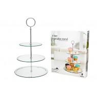Cake Std Glass 33.5x47.5cmH 3 Tiers(4/4)