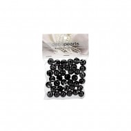 Pearls in PVC Bag 14mm 50g -Black(12/72)
