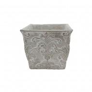 Cement Flower Pot Square 18x18x16cm(8/8)