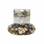 River Stone in Net 1Kg - Mixed (15/15)
