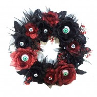 Light Up Eyeball Wreath-Red (6/6)