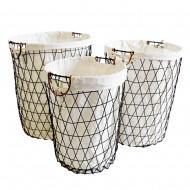 Metal Basket Round S/3 45x56H (L) (2/2)