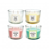 Jar Candle Cup 11x8cm AssFragrance(4/16)