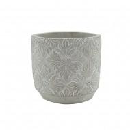 Flower Pot Cement Round13.5x13cmH(18/18)