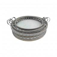 Metal Plate S/3 56x56x11cmH (1/2)