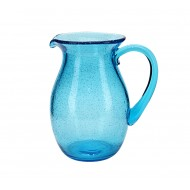 Glass Mexican Aqua Jug 16x21.5cmH (6/6)