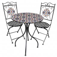Table x1 and  Chairs x2 Set Metal (1/1)
