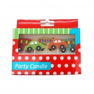 Candle With 5pc Car Deco In Box (36/144)