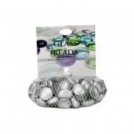 Glass Beads Silver -500g/net (24/24)