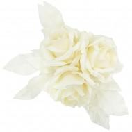 Flower Centre Piece3pcsRose-Crm Wht(2/4)