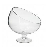 Glass Lamp w/Diagnal Cut 18x17cmH(12/12)