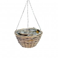 Pot Basket S/3 Hanging Willow (8/8)