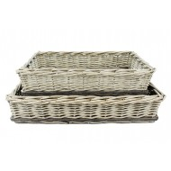 Trays Wicker Rect S/2 -57x38x11cmH (2/2)
