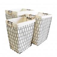 Metal Basket Rec S/3 45x36x56H (L) (2/2)